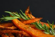 Potatoes / Baked rosemary sweet potatoe fries