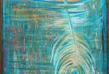 Peacock Inspired Art