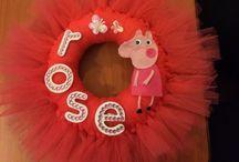 Door hoops / Door hoops / wreaths made from tulle, wool and burlap.