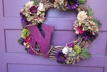 Wreaths for front door / by Debora Moore