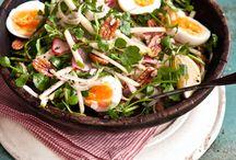 Salads, vegetables