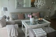 My livingroom. Love pink and grey
