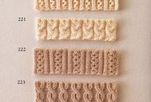kötött, horgolt minták (knit, crochet patterns)