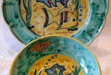 Set Piatto + Ciotola decorato a mano.Decorazione Pesci, by ilciliegio, 30,00 € su misshobby.com