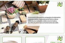 Jardín Rústico / Decora con esta bella tendencia todos los rincones de tu jardín.