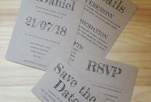 Recycled Wedding Invitation / Printed onto 280gsm Recycled card