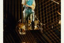 Bowie Heroes / Low tour 1978 Christchurch NZ / Taken at concert by friend Bruce while I was busy boogieing atop someone's shoulders right up the front. Heaven!