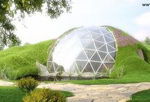 Glass Geodesic Dome House