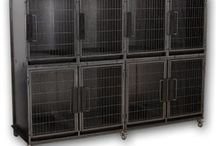 Cage Banks / K9 Kennel Store cage banks and cage bank kits are recommended by veterinarians, groomers and other pet professionals. Kennel cage banks allow for space and volume versatility as your pet care business grow and expands. Compared to other cages on the market these are the best buy for your dollar.