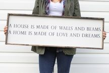 Home Decor- Signs