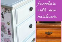 Decoupage furniture/ flowers