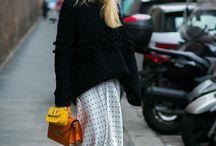 Street style Long Skirts