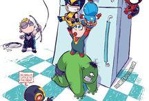 cute superheroes