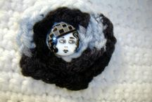 What We're Selling~ Crochet~ Handcrafted / This will be mostly afghans, crochet top towels, winter scarves, belts, brooches/pins, and hair clips/barrettes. Thanks for looking. / by Mary Schneider