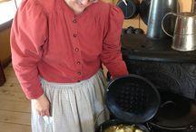 Cuisine acadienne, dans les maisons du village