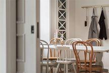 COMEDORES / Inspiración de comedores: mesas, sillas, bancos, paredes, lámparas...