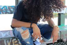 afro hair/box braids