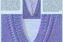вязание горловин спицами