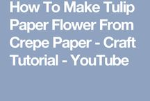 How To Make Tulips Paper Flower