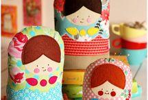 bedding/quilt/patchwork /muñecas