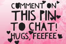 Let's chat! / I love comments and conversation!  / by FeeFeeRN