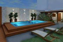projetos de piscina pequena