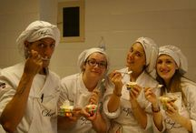 Tecniques in the art of making the Artisan Gelato - Italian Ice Cream / The creations of Artisan Ice cream (Italian Gelato) made by our  students in the pastry laboratory