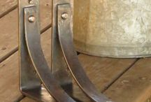 Forged shelf brackets