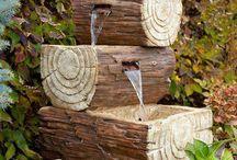 Trabajos con madera de troncos de árboles