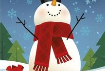 Snowman Party Ideas and Decorations / Brrr! Is your Birthday in the winter? Why not have a festive snowman theme party? We have searched the boards to bring you some of the cutest snowman party ideas, and added a few of our favorite products as well.