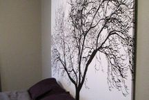 New Home Ideas - DIY Wall Decor / Ideas for DIY wall decorations.  / by Heather Gallagher