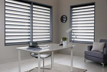 Sheer Horizon Blinds / Sheer Horizon Blinds (Similar to Silhouette Shades) are a unique and revolutionary product. This style of window decoration is an ideal combination of the best properties of voiles, venetian blinds and curtains. It has created an entirely new decorative window furnishing, which clearly differs from everything else on the market.  Our made to measure blinds are available in a range of fabrics, including a semi-blackout, which makes it even more possible to control the light and add more privacy.