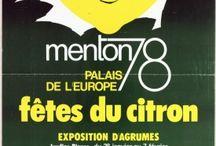 Anciennes affiches de la Fête du Citron®