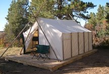 Wall Tents / Wall tent cabin ideas