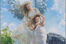 Angels In Our Midst / Walk with the angels ~ they are always in our midst. God has sent them to guide, protect and comfort us.   / by Carmen Hansen Schwitzer