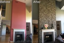Before and After / Before and after pictures from customers of their home make overs!  / by Faux Panels.com