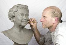 Queen Sculptures Bust / Sculpture / Bust of Queen Elizabeth II