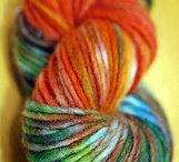dying fabric, yarn, etc.