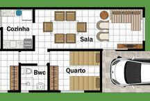 planta casa 4 comodos