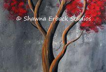Деревья в интерьере, рисунках, фэнтэзи, природе / Искусство, красота, художество