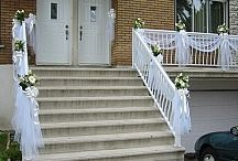 Décor extérieur entré et balcon mariage