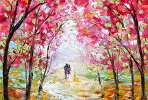 Pintura cuadros pintados