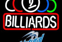 Natural Light with Billiards Neon Signs