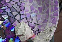 mosaico com CD