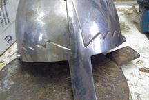 Helmet modification / Here ill try and upload pictures of a modification im making on a norman helmet that i plan using to western style viking fighting :)