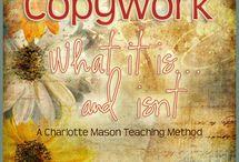 Charlotte Mason Language Arts / Handwriting, Dictation, Copywork, Narration