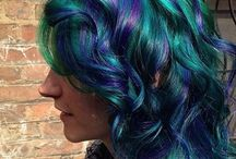 *creative hair colour and style*