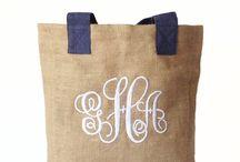 TOTe monogrammed bag