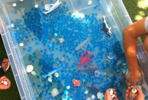 Summer / Sensory and messy play activities for babies & toddlers.