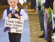 Wedding Procession / Using children with signs to get down the aisle as suggested by Whidbey Party Girls